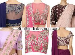 designer blouses plain saree with embroidered designer blouse ideas