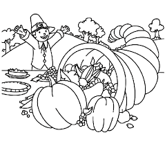 thanksgiving coloring pages food on table coloringstar