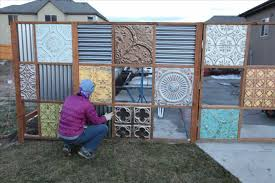 Corrugated Steel Panels Lowes by Metal Fence Panels Panels Noelle O Designs Garden Lowes Gates With