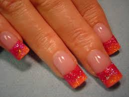 beautiful nail art designs made by glittered nail color trendy