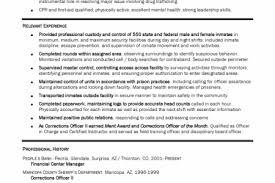 Corrections Officer Resume Correctional Officers Resume Examples Law Enforcement And Security