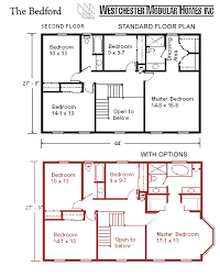Two Storey Floor Plans Bedford By Westchester Modular Homes Two Story Floorplan
