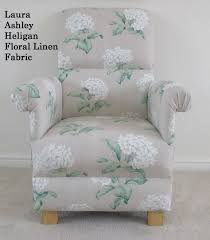 laura ashley heligan floral linen fabric chair cream nursery