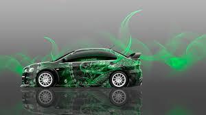 green mitsubishi lancer 4k mitsubishi lancer evolution x jdm side dragon car 2014 el tony