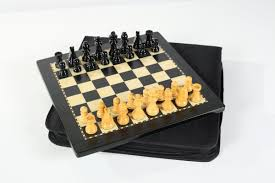 travel chess set images 12 quot magnetic travel chess set in black and boxwood chess house jpg