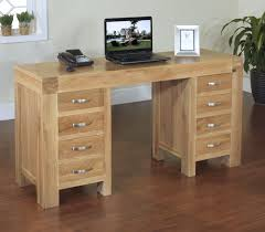 Home Office Computer Desk by Rivermead Solid Modern Oak Furniture Large Office Pc Computer Desk