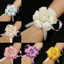 bridesmaid corsage bridesmaid wrist corsage flowers petals garlands ebay