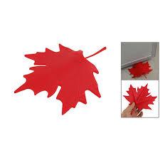 red plastic maple leaf style home decorative door stopper doorstop