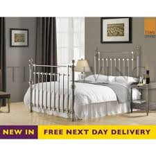 discounted edward 5ft king size chrome plated metal bed cheapest