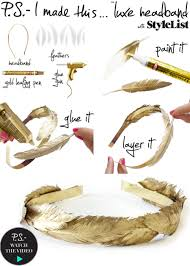 diy gold feather headband gold feathers feathers and gold