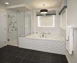 grouting bathtub tile subway tile bathroom black grout bathrooms pinterest black