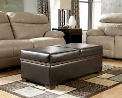 furniture extra long ottoman round leather tufted ottoman