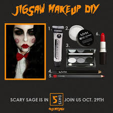 Costume Halloween 25 Jigsaw Makeup Ideas Jigsaw Costume