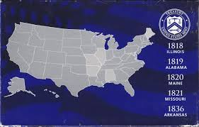 State Quarters Map by Usa