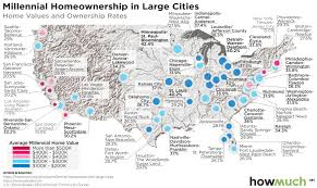 this map shows where millennials are buying houses and for how much