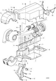 volvo penta exploded view schematic heat protection for