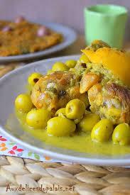 poulet aux citrons confits cuisine tajine de poulet aux citrons confits et olives vertes recette