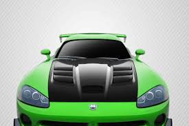 Dodge Viper Green - 03 09 dodge viper acr carbon fiber creations body kit hood
