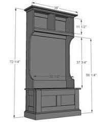 Free Storage Bench Plans by Free Plans To Build A Hall Tree Simple Step By Step Plans Include