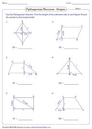 printables pythagorean theorem worksheets ronleyba worksheets