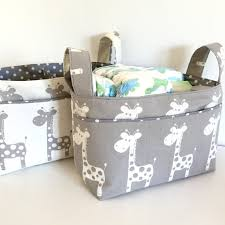Changing Table Caddy Nappy Caddy Change Table Organiser Fabric Basket Nursery