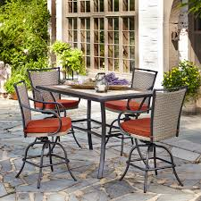 Patio High Dining Set - mason green hillsboro 5 piece high dining set with motion high