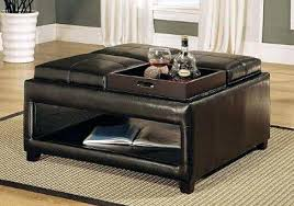 leather tray for coffee table fantastic ottoman with trays coffee table reasons to choose leather