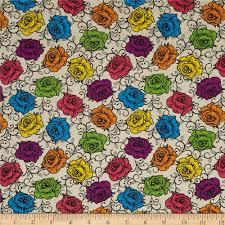 calavera rosas prismaticas cream multi accent colors