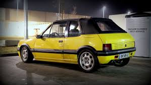 peugeot yellow rd piereck u0027s 1989 peugeot 205