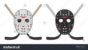 Horror Hockey Mask Halloween Vector Design Stock Vector 294745874