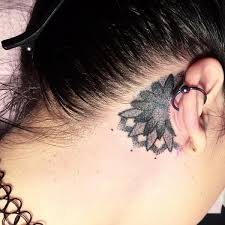 tattoo neck behind ear 46 pretty behind the ear tattoos that will please you