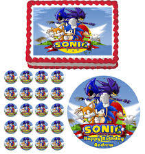 sonic the hedgehog cake topper sonic edible cake topper ebay