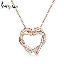 valentines necklace iutopian brand hot sale heart shape pendant necklace