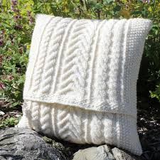 Knitted Cushion Cover Patterns Cable Cushion Knitting Kit