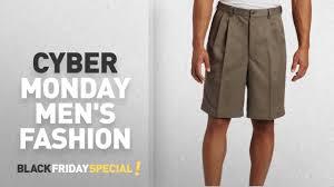 Comfort Waist Mens Shorts Cyber Monday Men U0027s Pleated Shorts Deals Haggar Men U0027s Cool 18