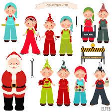 christmas elves clipart christmas elf santa clipart instant