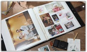 photo album with adhesive pages string binding leather album of white sheet self adhesive from