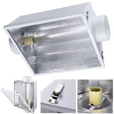 250 watt hid grow lights 6 air cooled reflector hood w glass fit 1000w 600w 400w 250w hps
