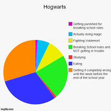 Make A Pie Chart Meme - hogwarts funny pie charts i solemnly swear i am up to no good