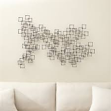 Crate And Barrel Wall Sconce Set Of 3 Squares Nail Wall Art Crate And Barrel