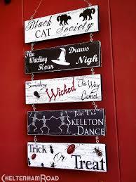 101 best halloween wood signs images on pinterest halloween