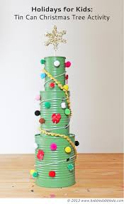 tin can christmas tree activity christmas tree activities and