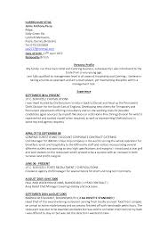 Hotel Resume Format Cv Sample Resume Resume Cv Cover Letter
