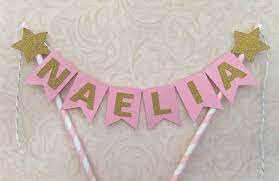 pink and gold party supplies personalized name pink gold twinkle cake topper hot party