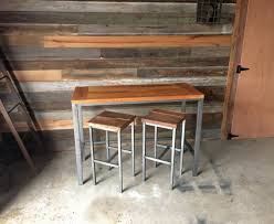 counter height pub table counter height reclaimed wood kitchen table pub table what we make