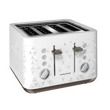 4slice Toasters Prism White 4 Slice Toaster Toasters U0026 Sandwich Toasters