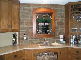Kitchen Stone Backsplash by Kitchen Remodeling Kitchen Wall Interior Using Faux Stone Wall