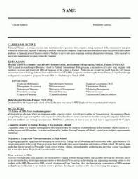 examples of resumes cover letter job resume objective statement