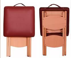 massage bed solid wood beech folding stool fashion leather stool