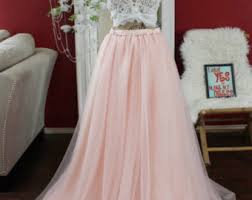White Tulle Maxi Skirt Blush Pink Tulle Skirt Maxi Tutu Floor Length Skirt